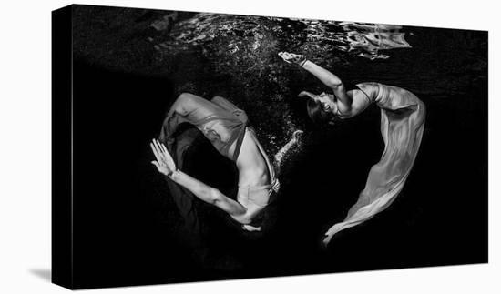 Grace Underwater-Ken Kiefer-Stretched Canvas Print