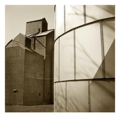 Grain Elevators-TM Photography-Stretched Canvas Print