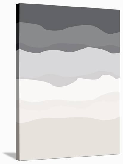 Gray Beige Abstract-Jetty Printables-Stretched Canvas Print