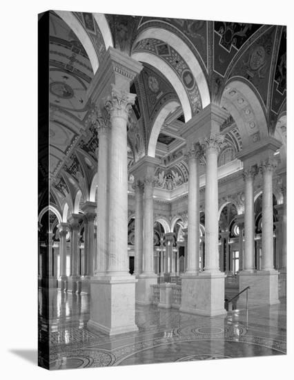 Great Hall, second floor, north. Library of Congress Thomas Jefferson Building, Washington, D.C. --Carol Highsmith-Stretched Canvas Print