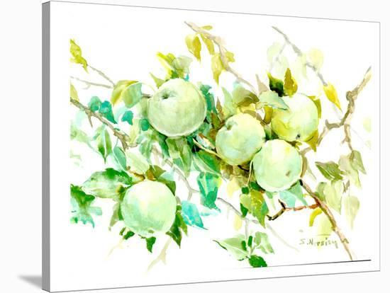 Green Apple Tree 2-Suren Nersisyan-Stretched Canvas Print