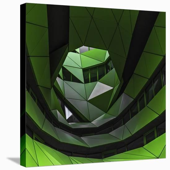 Green Offices-Gilbert Claes-Stretched Canvas Print
