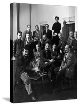 """Group Portrait of American Abstract Expressionists, """"The Irascibles""""-Nina Leen-Premier Image Canvas"""