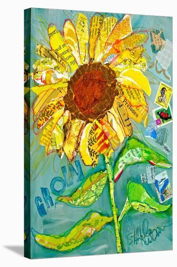 Grow Sunflower--Stretched Canvas Print