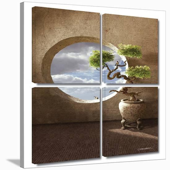 Haiku 4 piece gallery-wrapped canvas-Cynthia Decker-Gallery Wrapped Canvas Set