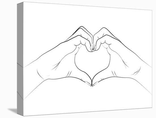 Hand Heart- Martina-Stretched Canvas Print