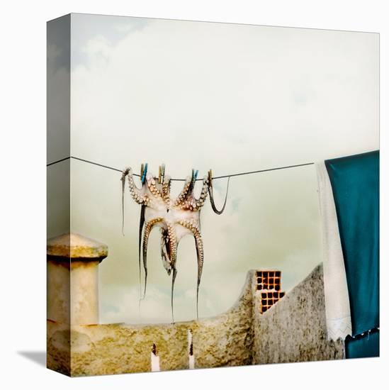 Hanging Out--Stretched Canvas Print