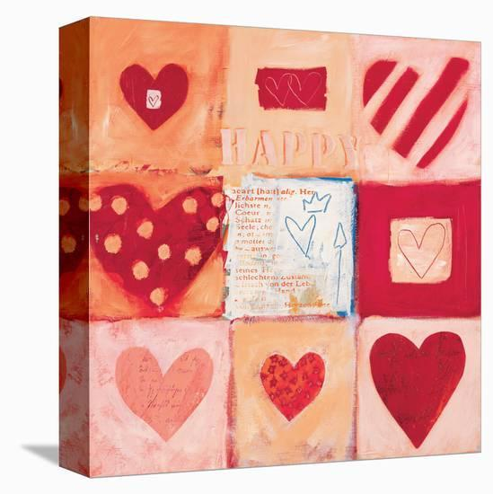 Happy Heart III-Anna Flores-Stretched Canvas Print