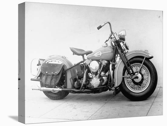 Harley-Davidson Racing Motorcycle-Loomis Dean-Stretched Canvas Print