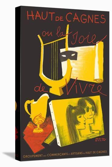 Haut de Cagnes, France - The Joy of Living (La Joie de Vivre)-Paul Colin-Stretched Canvas Print