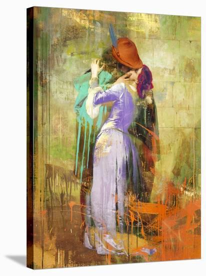 Hayez's Kiss 2.0-Eric Chestier-Stretched Canvas Print