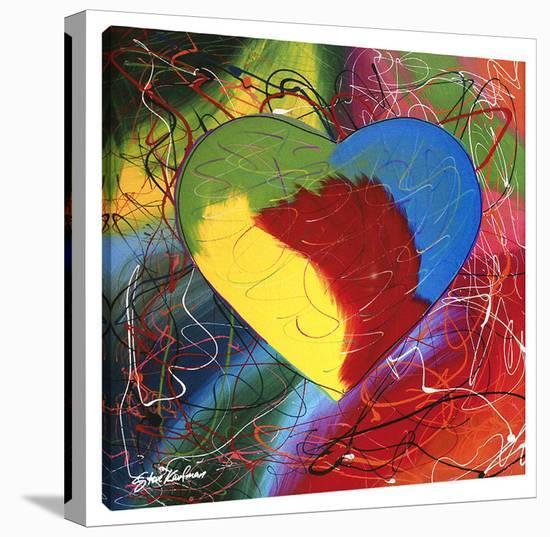 Heart-Steve Kaufman-Gallery Wrapped Canvas
