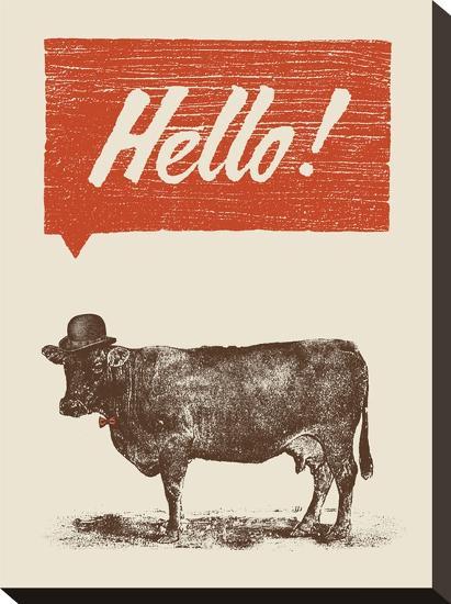 Hello-Florent Bodart-Stretched Canvas Print
