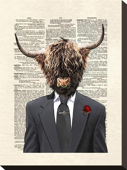 Highlandbull Man Stretched Canvas Print Matt Dinniman Art Com