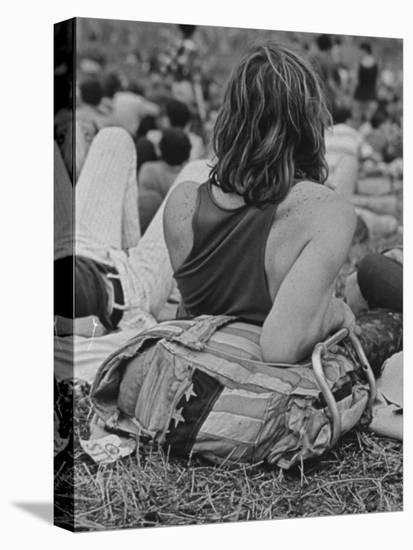 Hippies at Woodstock Music Festival--Stretched Canvas Print