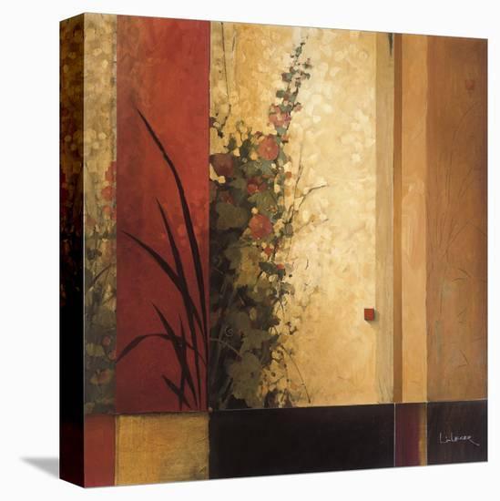 Hollyhock Garden-Don Li-Leger-Stretched Canvas Print