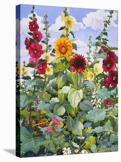 Hollyhocks and Sunflowers, 2005-Christopher Ryland-Premier Image Canvas