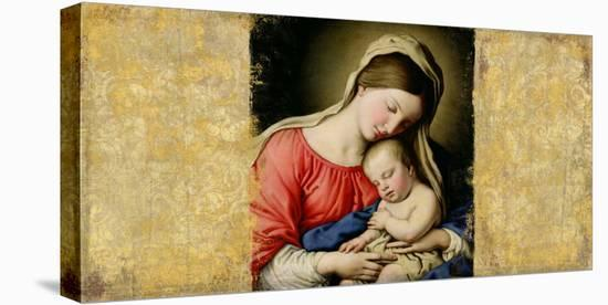 Holy Virgin (After Sassoferrato)-Simon Roux-Stretched Canvas Print