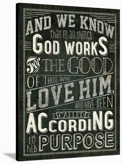 Holy Words I-Wild Apple Portfolio-Stretched Canvas Print