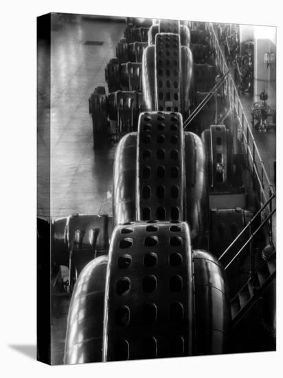Hydro-Generators at Niagara Falls Power Company-Margaret Bourke-White-Stretched Canvas Print