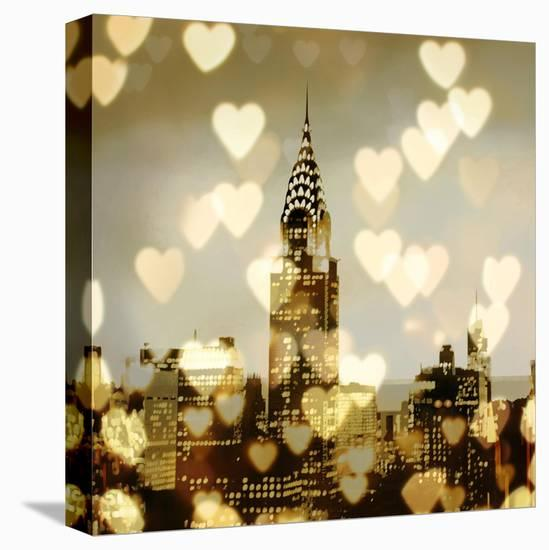 I Love NY I-Kate Carrigan-Stretched Canvas Print