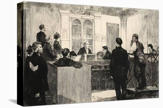 Illustration from 'La Rue a Londres', Pub. by G. Charpentier Et Cie, 1884-Auguste Andre Lancon-Stretched Canvas Print