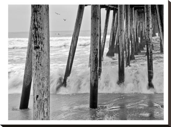 Imperial Beach Pier #1-Murray Bolesta-Stretched Canvas Print