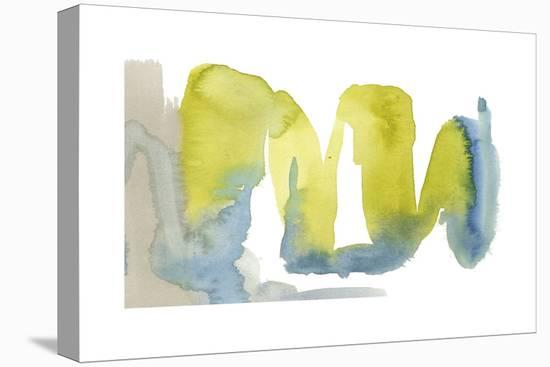 Indigo & Citron II-Jennifer Goldberger-Stretched Canvas Print