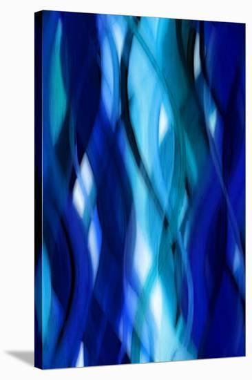 Indigo Flow II-Annie Campbell-Stretched Canvas Print