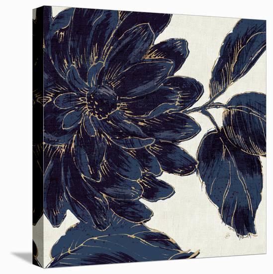 Indigo Garden I-Daphne Brissonnet-Stretched Canvas Print