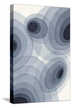 Indigo Ovals II-Nikki Galapon-Stretched Canvas