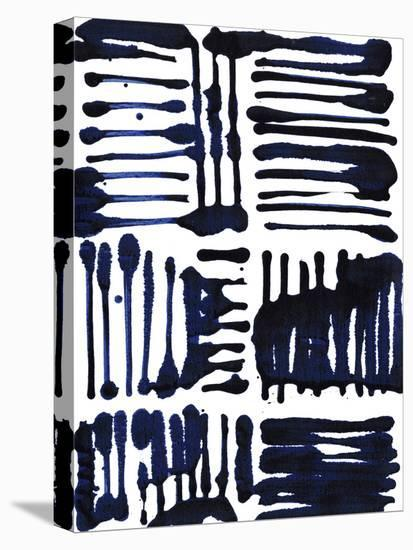 Indigo Stripes II-Jodi Fuchs-Stretched Canvas Print