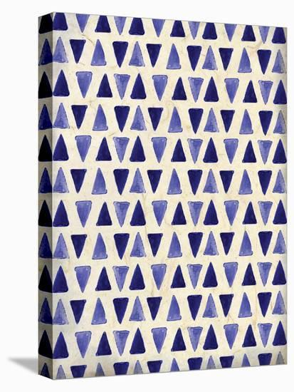 Indigo Triangles-Kimberly Allen-Stretched Canvas Print