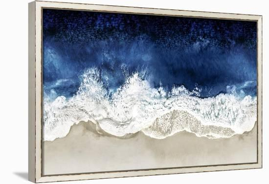 Indigo Waves From Above II-Maggie Olsen-Framed Canvas Print