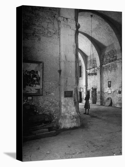 Interior of the Alamo--Stretched Canvas Print