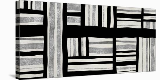 Intersect - Silver-Ellie Roberts-Stretched Canvas Print