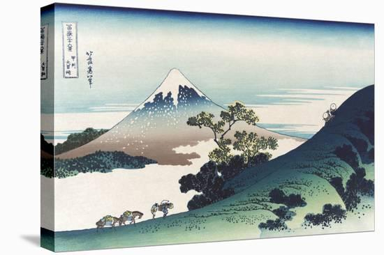 Inumi Pass in the Kai Province-Katsushika Hokusai-Stretched Canvas Print