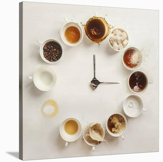 It's Always Coffee Time-Dina Belenko-Stretched Canvas Print