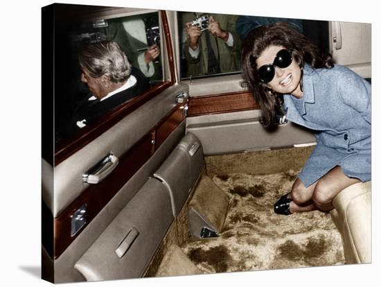 Jackie Kennedy Onassis--Stretched Canvas Print