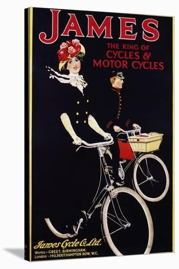 James - the King of Cycles and Motorcycles Poster--Stretched Canvas Print