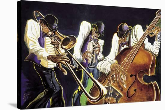 Jamming-Steven Johnson-Stretched Canvas Print