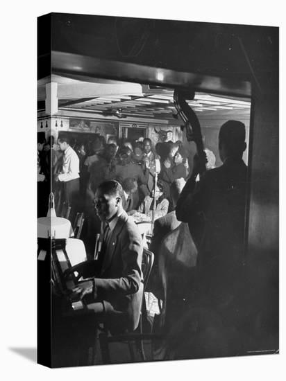 Jazz Orchestra in Harlem Club-Hansel Mieth-Stretched Canvas Print