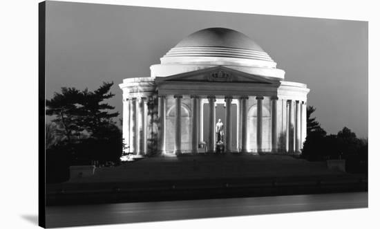 Jefferson Memorial, Washington, D.C. - Black and White Variant-Carol Highsmith-Stretched Canvas Print