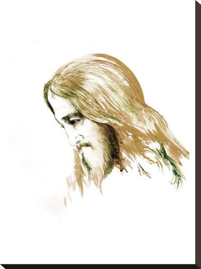 Jesus 1-Suren Nersisyan-Stretched Canvas Print