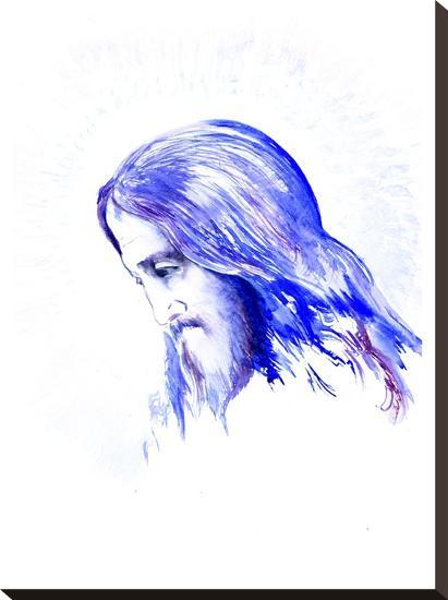 Jesus 2-Suren Nersisyan-Stretched Canvas Print