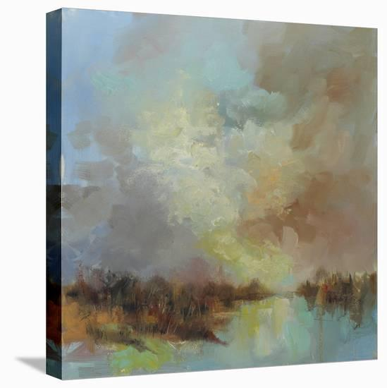 Jewelled Riverbank-Anne Farrall Doyle-Stretched Canvas Print