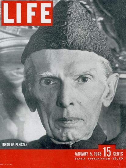 Jinnah of Pakistan, January 5, 1948-Margaret Bourke-White-Stretched Canvas Print