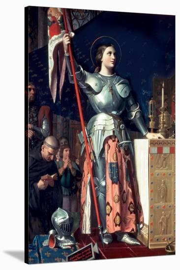Joan of Arc at the Coronation of King Charles-Jean-Auguste-Dominique Ingres-Stretched Canvas Print