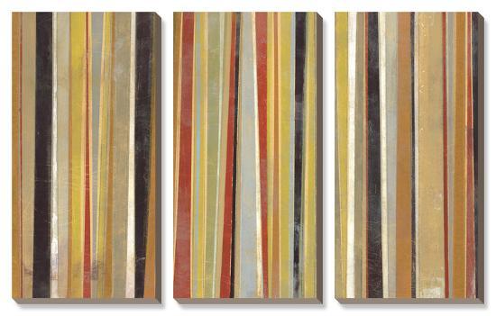 Jubilant Stripes-Norman Wyatt Jr^-Canvas Art Set