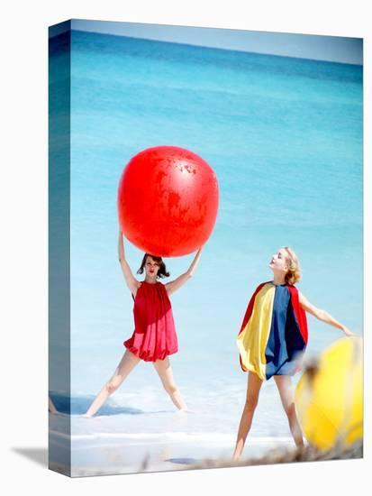 June 1956: Girls Modeling Beach Fashions in Cuba-Gordon Parks-Stretched Canvas Print
